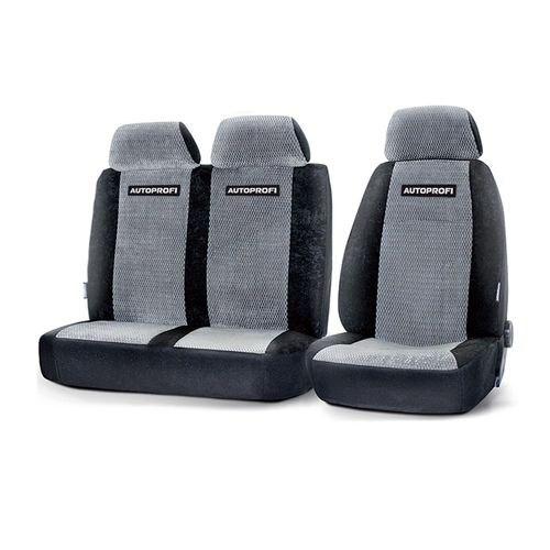 Cushion Cover Автопрофи GAZ-002 BK/GY-80 the Gazelle, Sable, Валдай, водит. + passenger. Seat, velour, чёрн./gray braid автопрофи sam 200 gy 80 m genuine leather thread needle gray