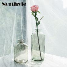DH glass flower vase Modern floor for Home Decoration Floral bottle terrarium wedding decoration