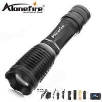 AloneFire E007 Ultra brillante CREE linterna LED XML T6 L2 V6 impermeable de aluminio Zoom portátil antorcha linterna