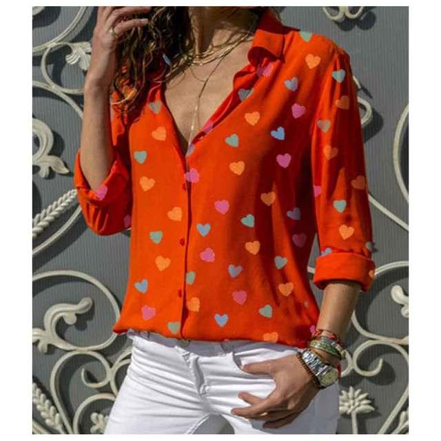 Women Summer Blouses Long Sleeve Shirt Chiffon Blouse Shirt Casual Tops Blusas Femininas Plus Size 2019 Fashion Ladies