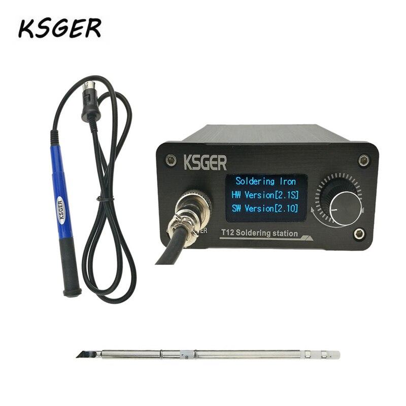KSGER V2.1S T12 Digital Temperature Controller Soldering Station Electric Soldering Iron Tips T12-K + 9501 Handle Durable
