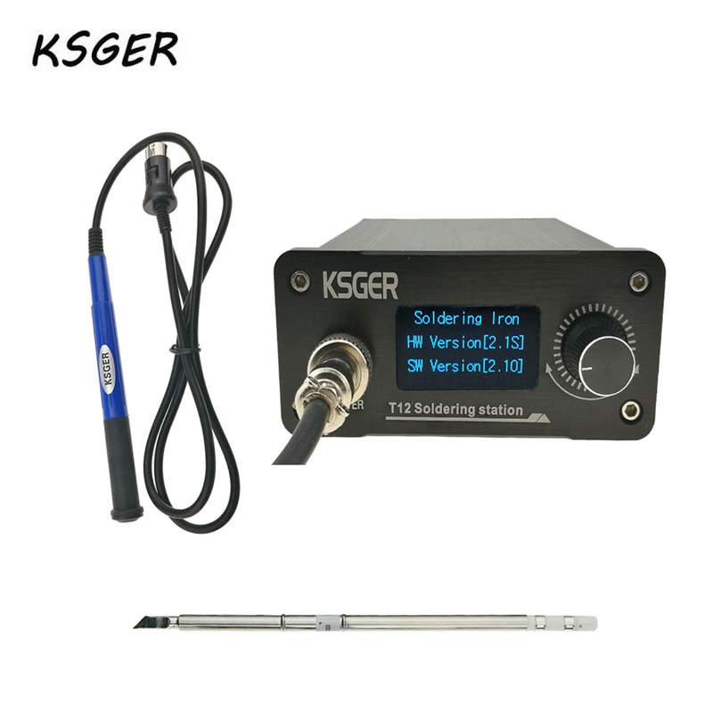 KSGER V2.1S T12 Digital Temperature Controller Soldering Station Electric Soldering Iron Tips T12 K + 9501 Handle Durable