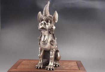 Exquisite Chinese hand carved animal Cupronickel statue
