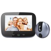 4.3 Inch Video Doorbell Zinc Alloy Video Door Phone 120 Degree 720P Peephole Viewer Pir Night-Vision Recording Photo Intercom