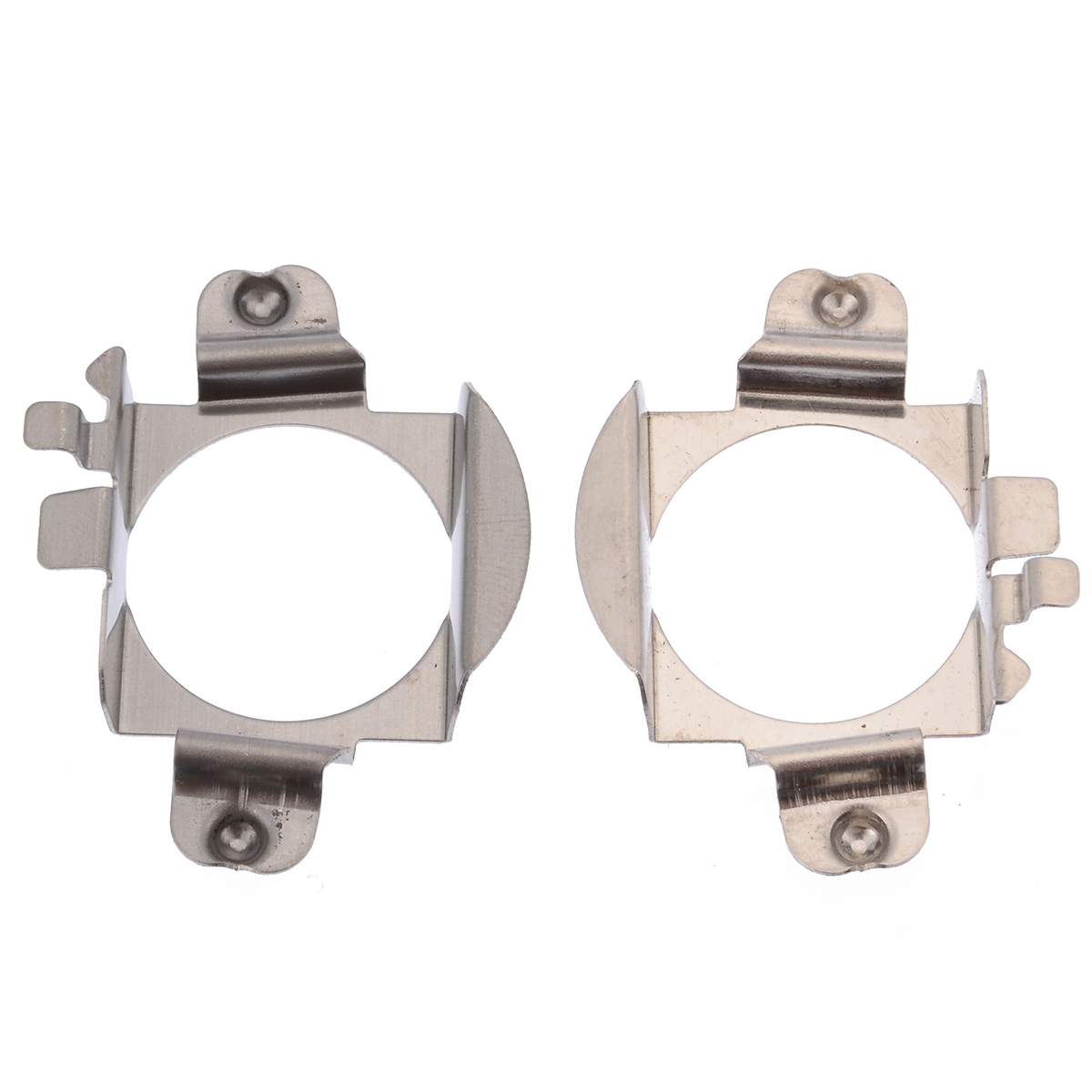For Ford Edge Mercedes Benz 2pcs H7 LED Headlight Lamp Bulb Adapter Retainer Holder Stainless Steel Support B/C/ML Class Mayitr