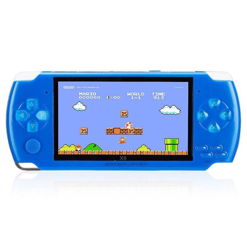 Unterhaltungselektronik Mini Tragbare Handheld Spielkonsole 4,3 Zoll 32bit 10000 Klassische Spiele Eingebaute Video-game-spieler Spielkonsole Player Taille Und Sehnen StäRken Videospiele