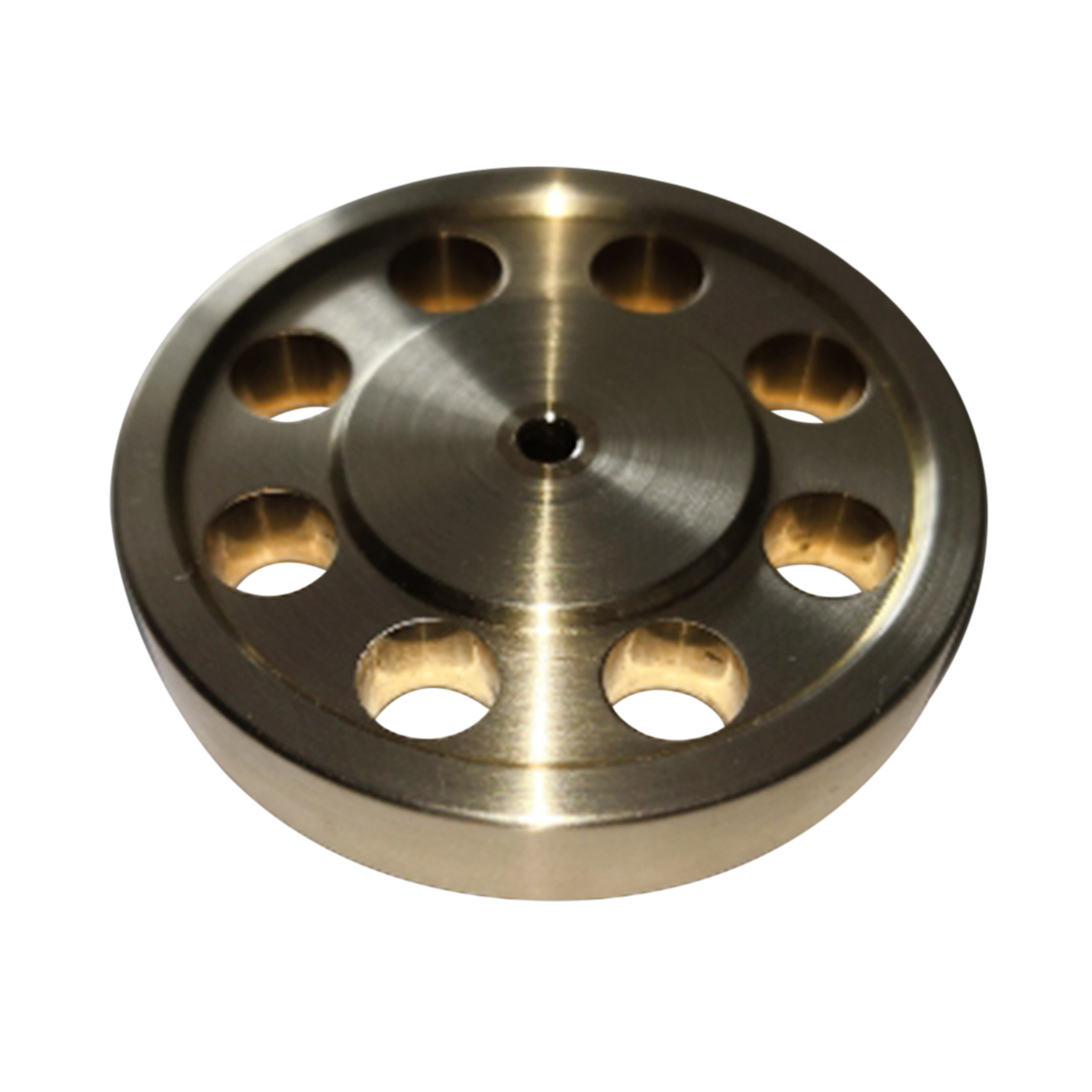 44mm Diameter 3mm Center Bore 8Hole DIY Accessory Brass Flywheel For Stirling Engine Model