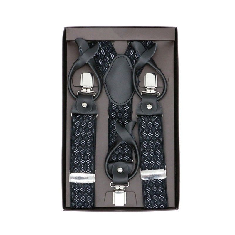 Creative Suspenders Y-back Shape Dual-use Clips-on Male Button Suspender Leather Trousers Suspensorio Bridegroom