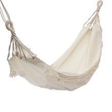 Outdoor Camping Hammock Swing Portable Hanging Chair Pure White Romantic Lace For Travel Hiking Garden Sleeping Swing Portable