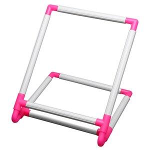 Image 1 - רקמת מסגרת מעשי אוניברסלי קליפ פלסטיק צלב תפר חישוק Stand מחזיק תמיכה מתלה Diy קרפט כף יד כלי