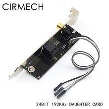 CIRMECH 24BIT192KHz SPDIF dochter Kaart optische vezel coaxiale digitale geluidskaart baffle DAC DTS decoder voor Algemene moederbord