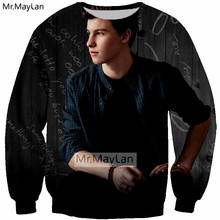 3D Print Singer Shawn Mendes Sweatshirts Men/Women Hiphop Streetwear Cool Coat Fans Boys Black Rock Tops Modis Clothes Harajuku