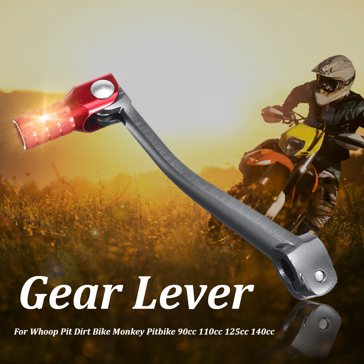 Red Gear Lever For Whoop Pit Dirt Bike Monkey Pitbike 90cc 110cc 125cc 140cc 4-stroke title=