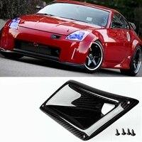 Chất lượng cao bên Trái Sợi Carbon Front Bumper Air Lỗ Thông Hơi Bìa Trim Intake Ống Dẫn Phù Hợp cho Nissan 350Z Z33 ND 2003-2009