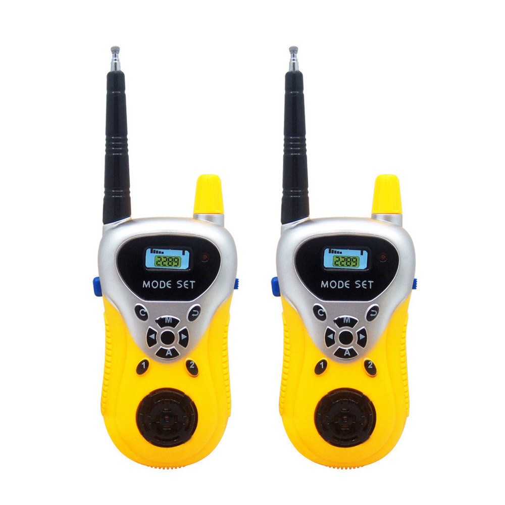 2pcs Handhold Walkie Talkie Remote Smart Wireless Parent-child Interaction Game Interactive Kid Radio Electronic Sounding Toys