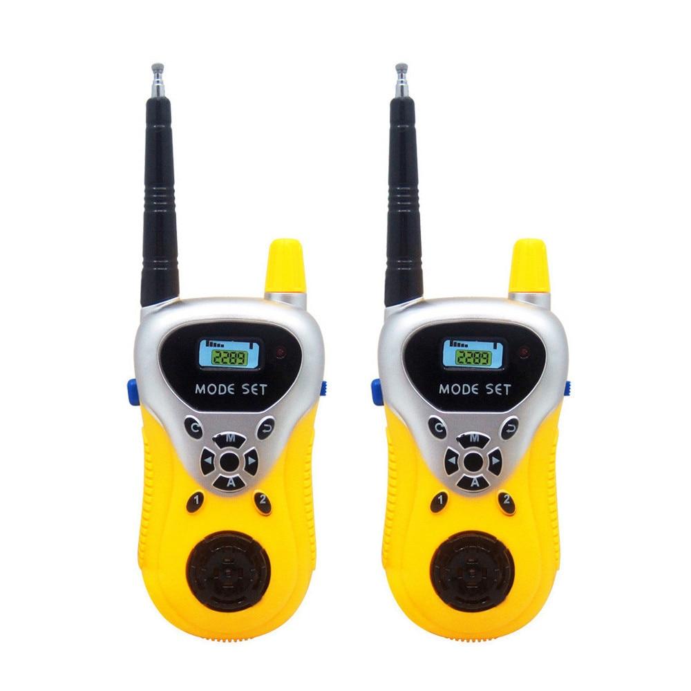 2pcs Handhold Walkie Talkie Remote Smart Wireless Parent-child Interaction Game Interactive Kid Radio Electronic Sounding Toys