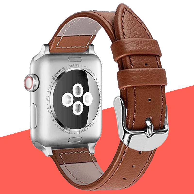 Genuine Leather strap for iwatch bracelet Apple Watch Band 42mm 38mm Sport Bracelet 40mm 44mm IWatch Series 4&3&2&1 watch strapGenuine Leather strap for iwatch bracelet Apple Watch Band 42mm 38mm Sport Bracelet 40mm 44mm IWatch Series 4&3&2&1 watch strap
