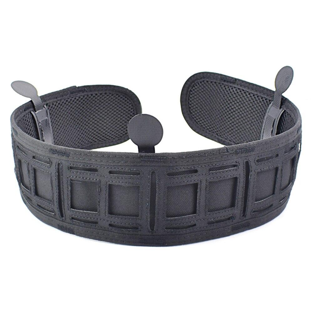 Image 2 - Military Airsoft Adjustable Tactical Belt Men Padded Molle Waist Belt Quick Release Combat Army Battle Hunting Belt CummerbundsWaist Support   -