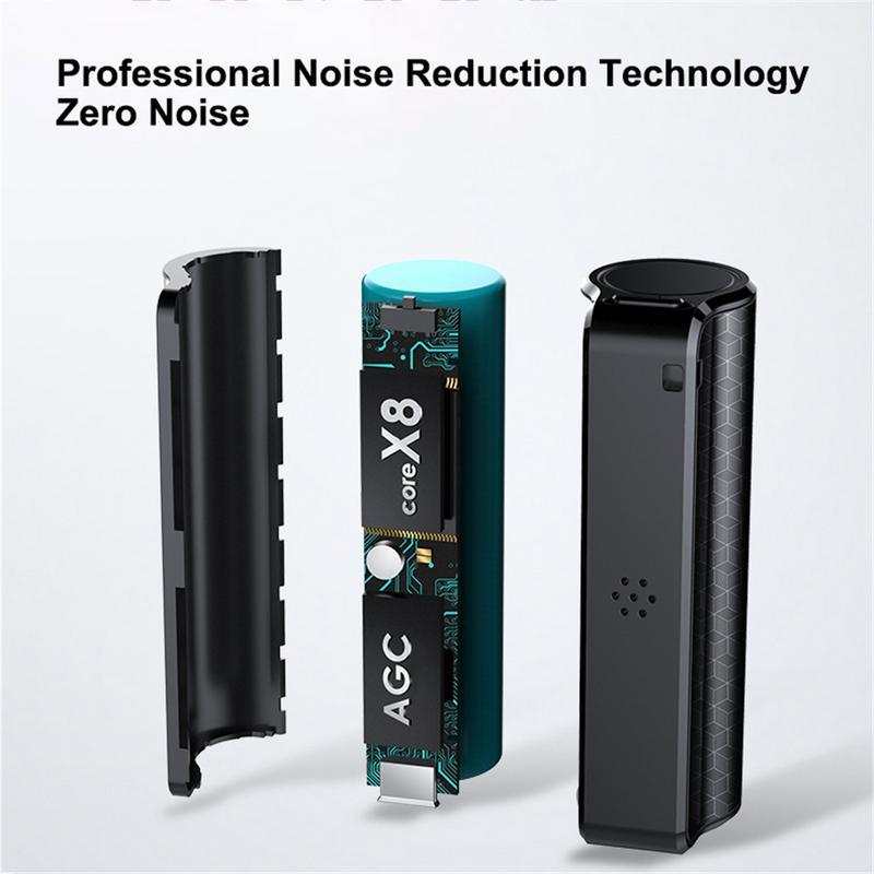 Mini Digitale Recorder Professionele Recorder Pen Magnetische Nul Lawaai Snel Opladen Voor Remote Een klik Loop Recording Waterdicht