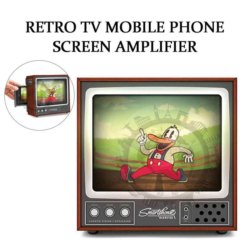 ТВ экран усилители защита глаз DIY складная картонная коробка ретро тв мобильный телефон экран усилитель Проекционные аксессуары