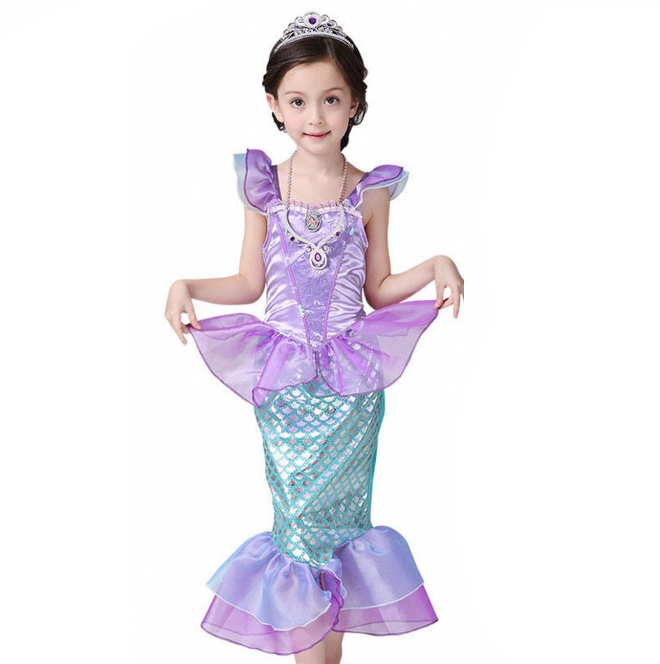 Little Fairy Mermaid Tail Costume For Kids Girls