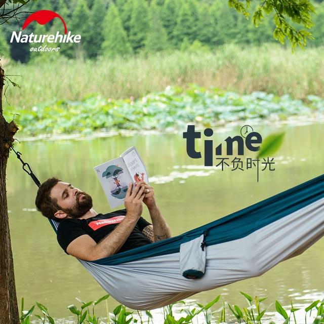 Naturehike 1-2 Persons Ultralight Single Double Camping Hammock Outdoor Hammock Swings Hanging Tent Portable Sleeping Bed 2