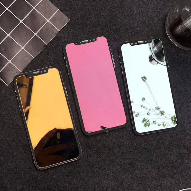 check out 45351 23082 US $1.17 29% OFF|Luxury Colorful Mirror Screen Protector Film for iPhone XS  Max Xr X 6 6S 7 8 Plus Toughened Tempered Glass for iPhone X 7 8 Plus-in ...