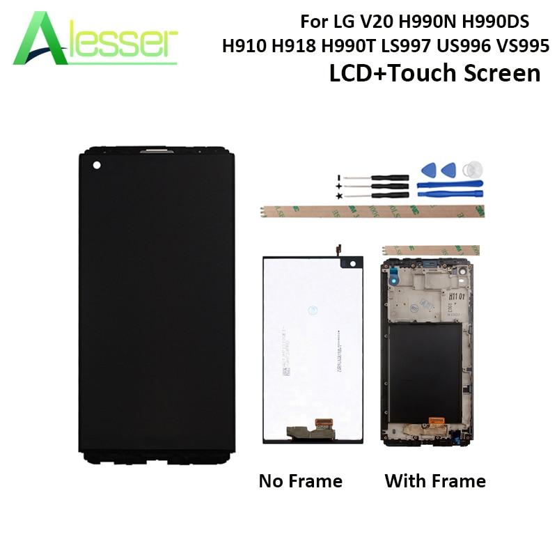 Alesser Per LG V20 H990N H990DS H910 H918 H990T LS997 US996 VS995 Display LCD E di Tocco Dello Schermo Con Cornice di Ricambio + strumentiAlesser Per LG V20 H990N H990DS H910 H918 H990T LS997 US996 VS995 Display LCD E di Tocco Dello Schermo Con Cornice di Ricambio + strumenti