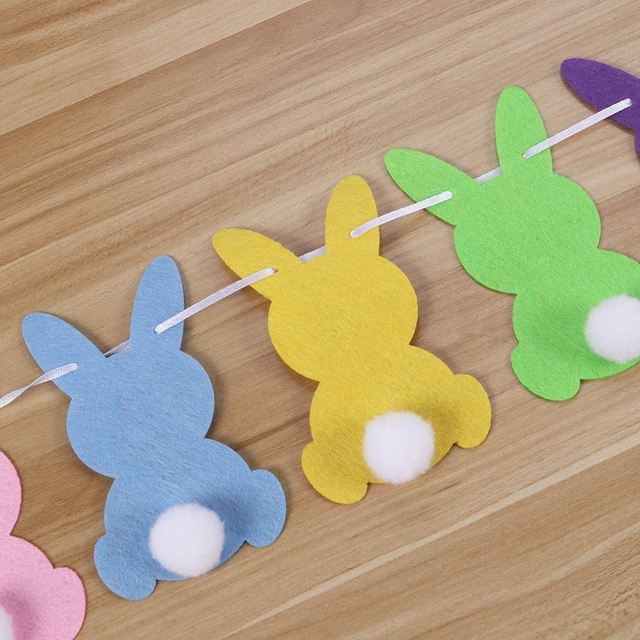Colorful Garland for Easter Party Decoration
