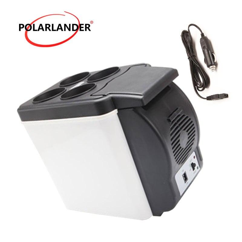 Mini Fridge 48W Double Use Warmer Portable ABS Car Boat Refrigerator Multi-Function Auto Freezer Travel Home Cooler 12V