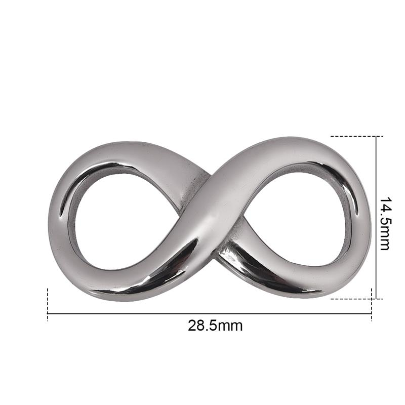 Stainless Steel Infinity Connector Charms Eternity Curved Jewelry Charm Beads DIY Jewelry Making Connectors Findings Hole 9mm