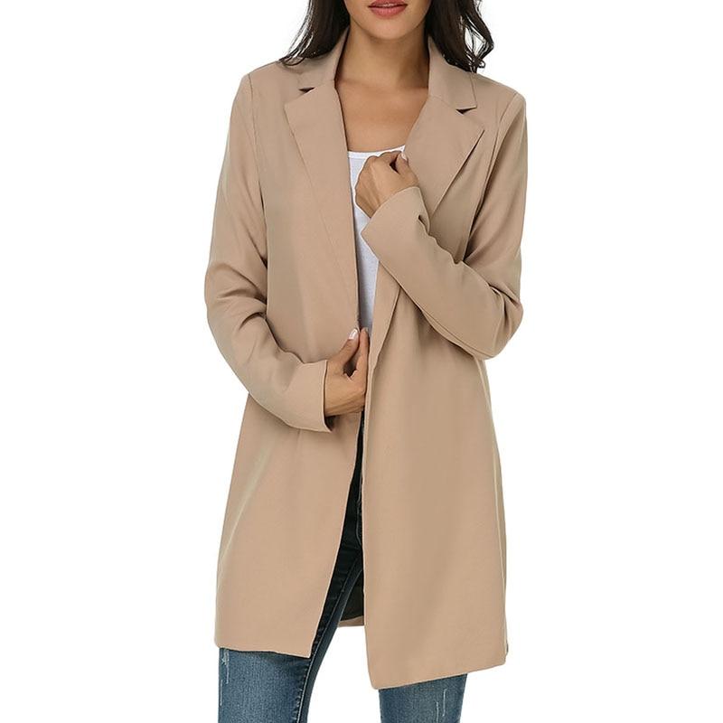 2019 Winter Plus Size Suit Blazer Women Jacket Coat Casual Solid Work Office Lady Long Sleeve Blazer Female Cardigan Outerwear