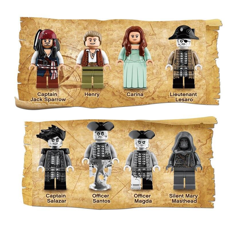 SY 1200 Pirate caraïbes bateau silencieux Mary blocs de construction Compatible legoingLYs 71042 jouet LP 16042 pour enfant cadeaux d'anniversaire - 2