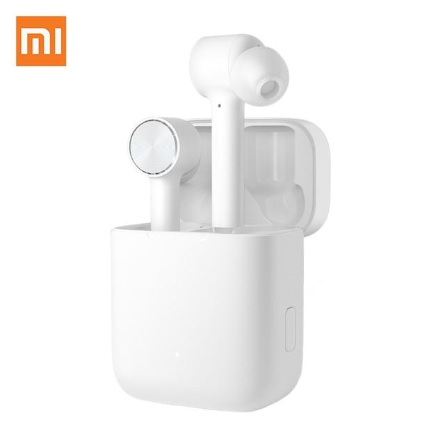 سماعات أذن أصلية من شاومي Mi Air تعمل بتقنية البلوتوث سماعات أذن لاسلكية حقيقية تعمل باللمس مع صندوق شحن سماعات أذن لاسلكية سماعات أذن برو