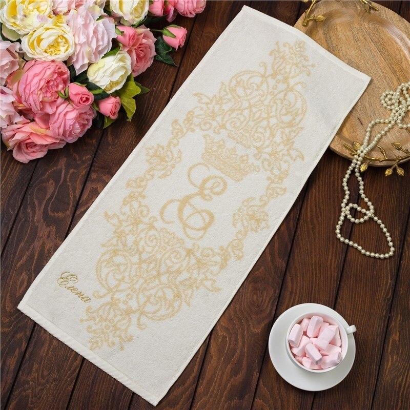 Фото - Towel именное Terry embroidery Elena 30х70 cm 100% cotton, 420гр/m2 4072491 young time travel portable thickening cotton compressed towel white l