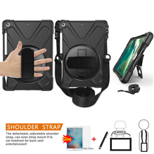 Case For iPad 9.7 inch 6th Generation 2018 2017 Cover Pencil Holder A1893 Kid Safe Shockproof Armor cover+Glass+Pen