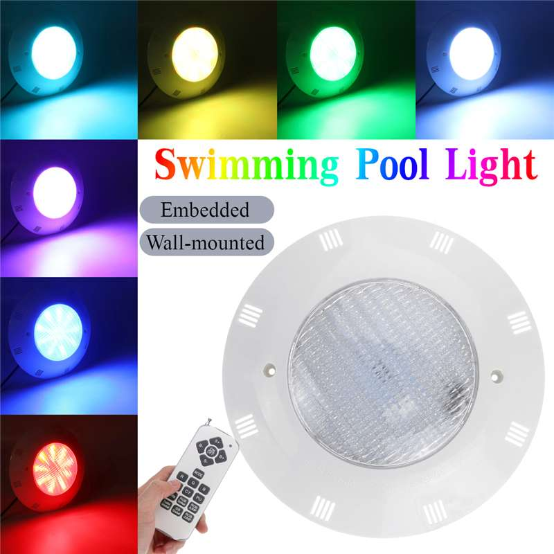New Swimming Pool LED Lamp AC/DC 12V 24W 36W LED Bulb IP68 Waterproof Leds SPA Lighting Pond RGB Fountain SpotLights With Remote