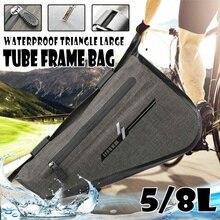 5L 8L Bike Triangle Frame Bag Waterproof Front Tube Cycling Bag for Road MTB Foldable Bike Storage Tool Panniers