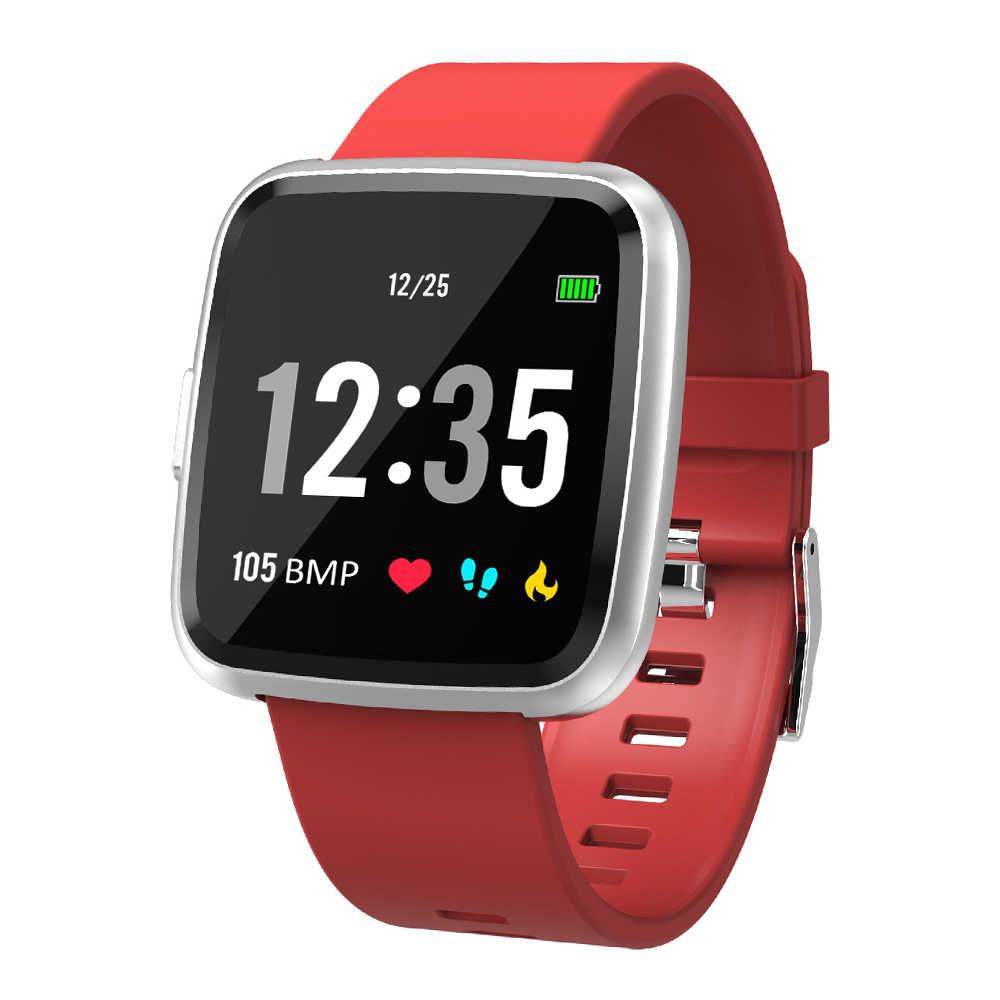 שעון 1.3In מלא מסך כושר גשש שעון IP67 צמיד עם לב קצב פעילות מעקב שלב דלפק