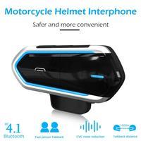 1000M Talkback Motorcycle Helmet Headset 450mAh Wireless Bluetooth Intercom BT Interphone Extra Motor Earphone Clear Voice Calls