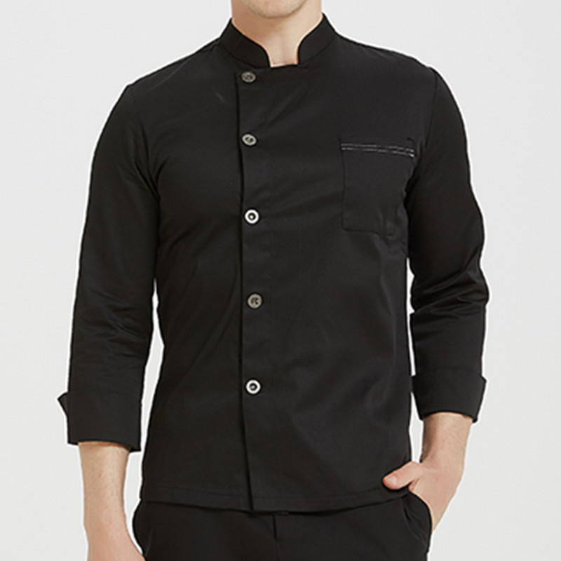 Poly Cotton Half Sleeve Shirt Hotel Restaurant Chef Jacket Culinary Uniform Barista Bistro Baker Catering Kitchen Work Wear K95