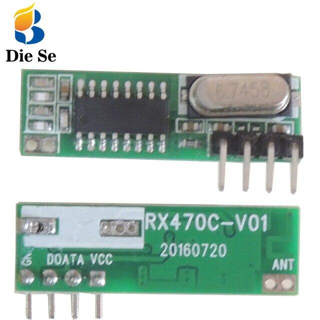 433Mhz Module RF Wireless Receiver Module Superheterodyne 433MHZ Wireless for arduino DIY Relay Receiver Update module