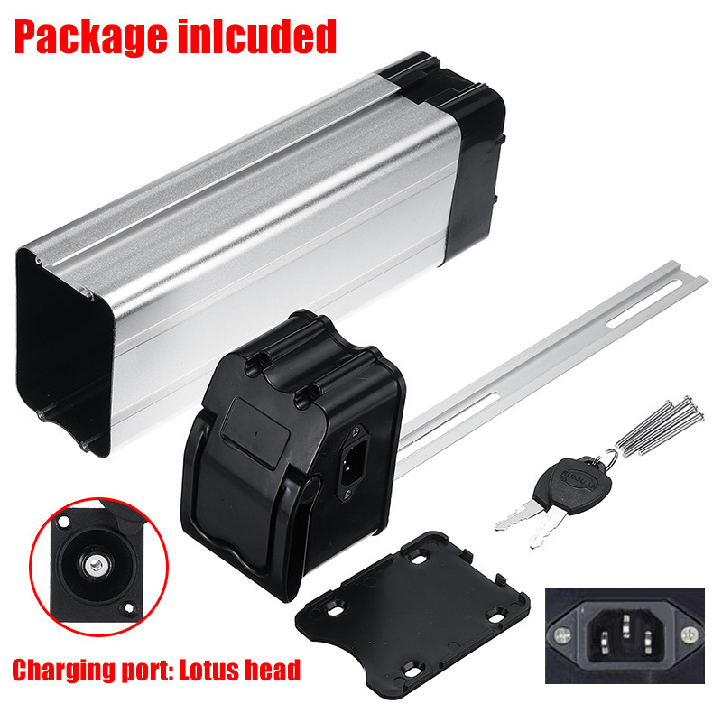 Battery Box Optional Head for Electric Bike 36V/48V Large Capacity 18650 Battery Plastic Holder Case  Protective Storage|Electric Bicycle Accessories| |  - title=