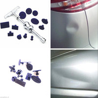 13pcs/set Car Body PDR Paintless Dent Repair T Bar Lifter Hail Removal Tool+Tabs