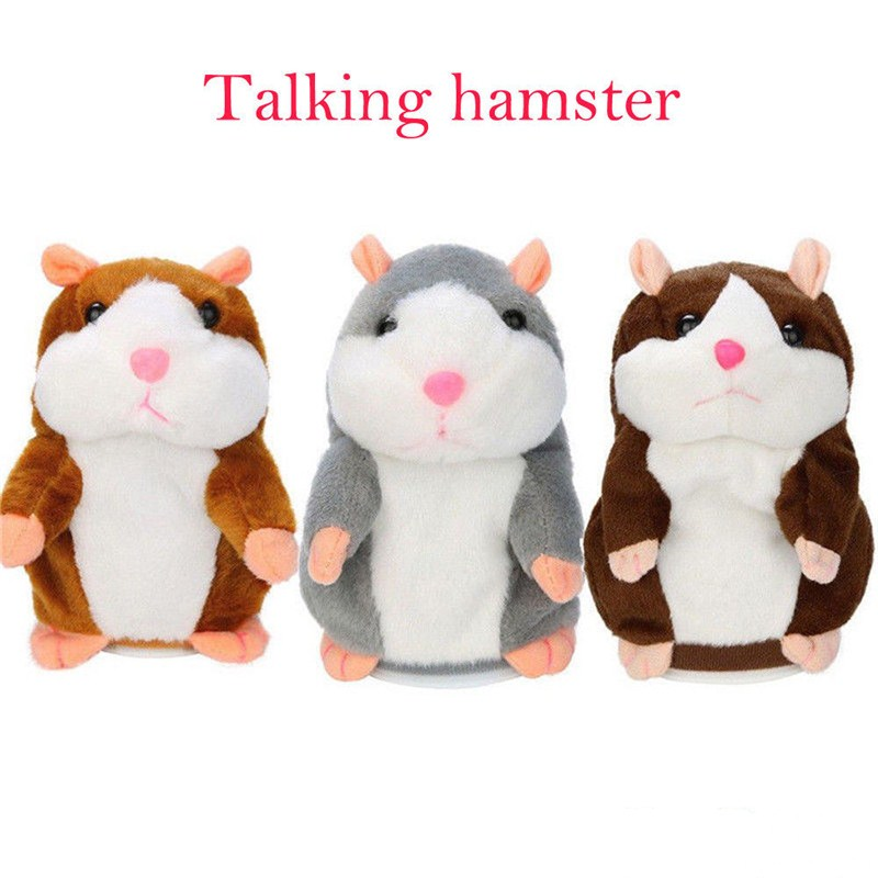 Fashion USA Talking Hamster Repeats What You Say Plush Hamster Repeats Doll Toy Kid Gift