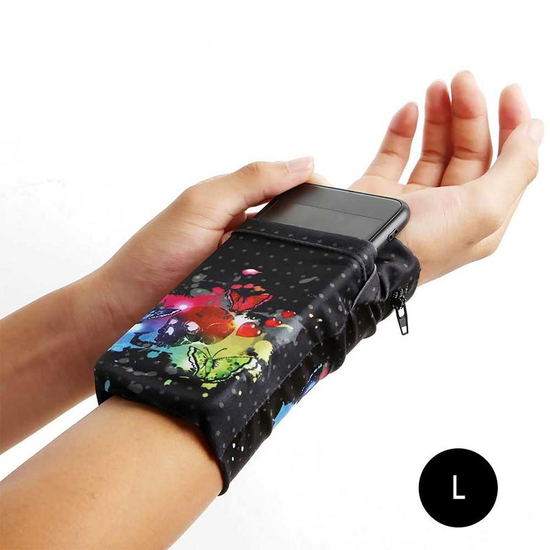 Men Women Sports Running Arm Bag Hand Bag Wrist Mobile Phone Bag Wallet Pouch Wrist Support Pocket