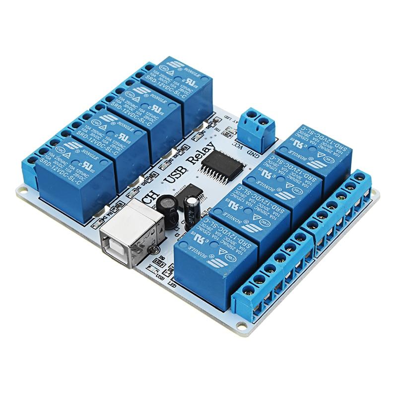 12V DC USB 8 Channel SPDT Relay Module SRD-12VDC-SL-C12V DC USB 8 Channel SPDT Relay Module SRD-12VDC-SL-C