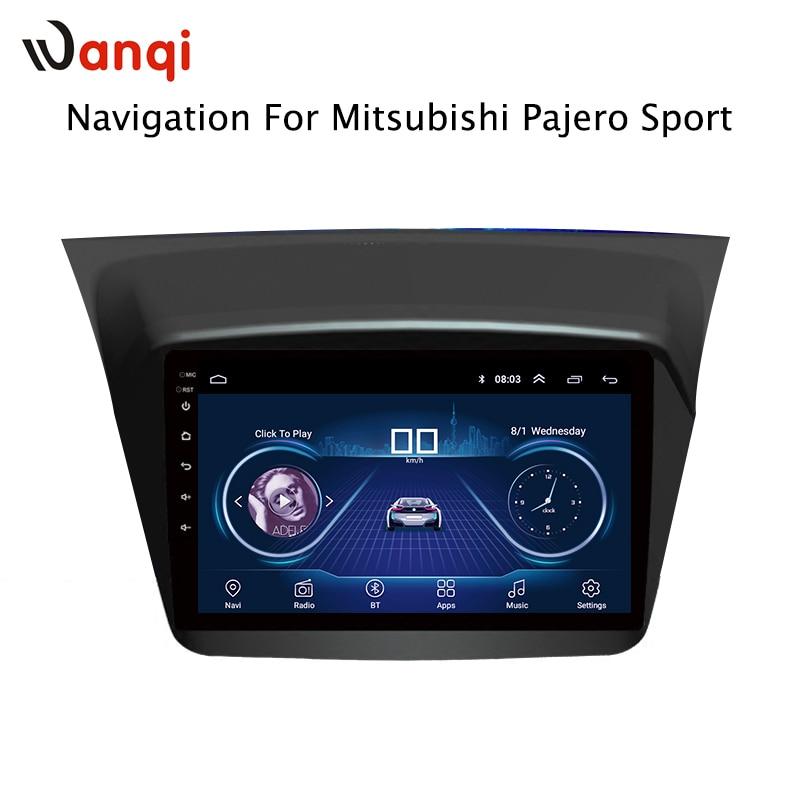 9 pouces Android 8.1 voiture dvd gps navigation Pour Mitsubishi Pajero montero sport 2013-2017 multimédia radio dvd système