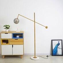 Modern LED Glass Floor Lights Metal Vertical Art Bedside Bedroom Living Room Lamps Iron Standing Fixtures Decor
