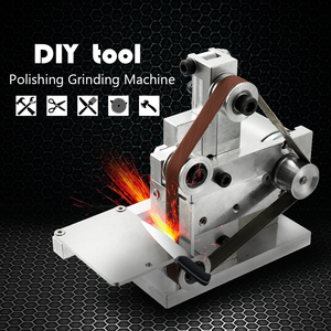 Image 2 - 110 240V Multifunctional Mini Electric Belt Sander Electric Grinder DIY Polishing Grinding Machine Cutter Edges Sharpener